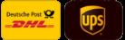 Versand mit DHL Go Green und UPS (international)