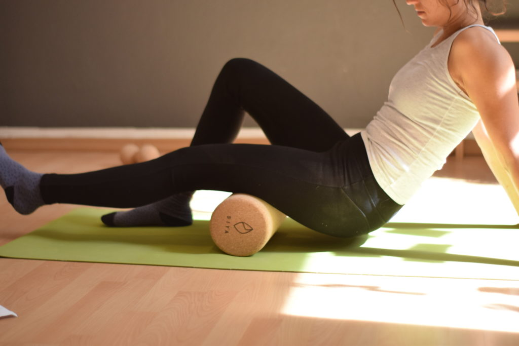 SIYA Yoga Faszienrolle aus Kork - plastikfreie Selb